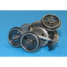 WHEELSDISC OO Gauge Pack of 20 x Disc Wagon Axles