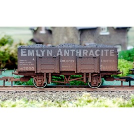 4F-038-002 OO Gauge 20 Ton Steel Mineral Wagon Emlyn Anthracite Weathered