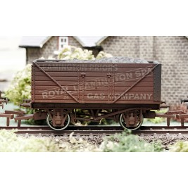 4F-080-004 OO Gauge 8 Plank Wagon  Leamington Spa Weathered