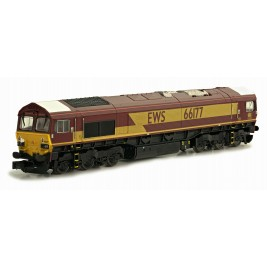 2D-007-003D N Gauge CLASS  66  EWS 66177 EXPERIMENTAL WHITE CAB ROOF DCC FITTED
