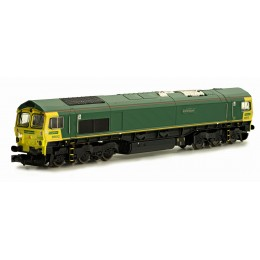 2D-007-004 N Gauge CLASS  66   UNBRANDED FREIGHTLINER LIVERY 66612 FORTH RAIDER