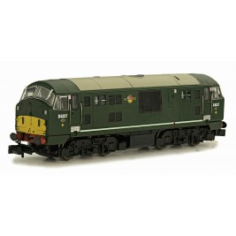 2D-012-011D N Gauge Class 22 BR D6327 DISC HEADCODE AMENDED WP DCC FITTED