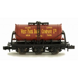 2F-031-006 N Gauge 6 Wheel Milk Tanker  WEST PARK DAIRY