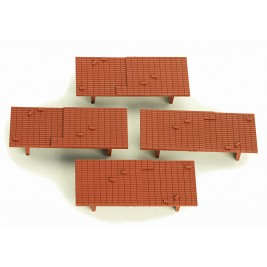 4A-000-011 OO Gauge  Brick Loads For Dapol 10ft Wheelbase wagons (pack of 4)
