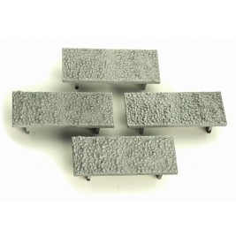 4A-000-013 OO Gauge  Granite Loads For Dapol 10ft Wheelbase wagons (pack of 4)
