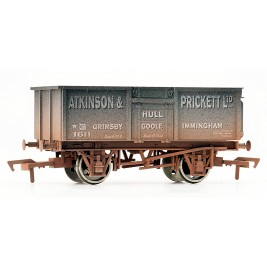 4F-030-008 OO Gauge 16 Ton Steel Mineral Wagon  ATKINSON & PRICKETT Weathered