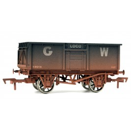 4F-030-101 OO Gauge 16 Ton Steel Mineral Wagon  GWR Loco Coal Weathered