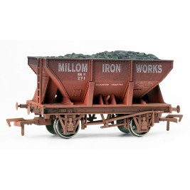 4F-033-006 OO Gauge 24 Ton Steel Ore  Millom Iron Works  Weathered