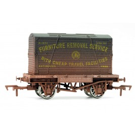 4F-037-004 OO Gauge Conflat & Container GWR Weathered