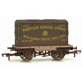 4F-037-008 OO Gauge Conflat & Container GWR    K-1674 Weathered