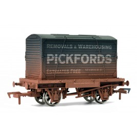 4F-037-103 OO Gauge Conflat & Container Pickfords Weathered