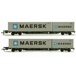 4F-044-003 OO Gauge FEAB Container Twin Pack OO  640719 + 640720 Maersk Containers