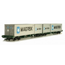 4F-044-002 OO Gauge FEAB Container Twin Pack OO  640721 + 640722 Maersk Containers