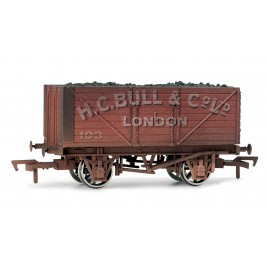 4F-080-002 OO Gauge 8 Plank Wagon  H.C Bull Weathered
