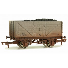 4F-080-008 OO Gauge 8 Plank Wagon  BR P308263 Weathered