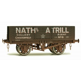 7F-051-018W O Gauge 5 Plank Open Wagon Nathl Atrill Weathered