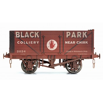 7F-071-023W O Gauge 7 Plank Open Wagon   BLACK PARK CHIRK WEATHERED