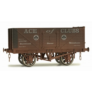 7F-071-024W O Gauge 7 Plank Open Wagon  Ace Of Clubs Weathered