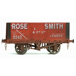 7F-080-012W O Gauge 8 Plank Open Wagon Rose, Smith Weathered