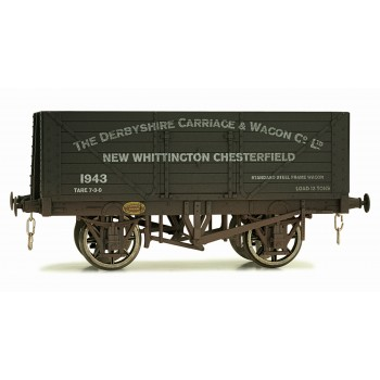 7F-080-014W O Gauge 8 Plank Open Wagon Derbyshire Carriage Works Weathered