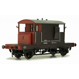 7F-100-001 O Gauge SR BRAKE VAN BROWN / RED SMALL LETTERS