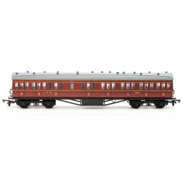 C097A OO Gauge 57' Stanier Non Corridor Composite LMS Maroon Lined 19171 Kit