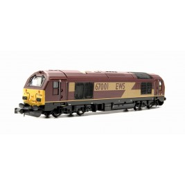 ND101MD  N Gauge CLASS  67  EWS MAROON POWERED # 67001 DCC Fitted