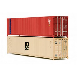 NB063B N Gauge 40 ft Containers x 2 MSC and Genstar