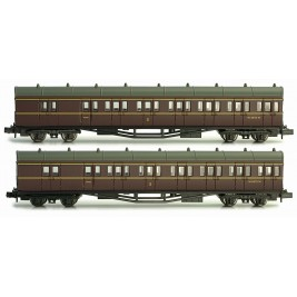 2P-003-005 N Gauge B Set Coach Twin Pack BR Crimson 6975 & 6976