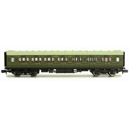 2P-012-153  N Gauge Maunsell Coach Composite Maunsell Lined Green 5139