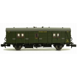 2P-012-203  N Gauge Maunsell Brake Van  Maunsell Lined Green 422