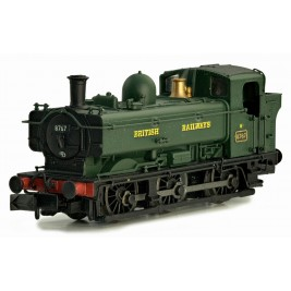 2S-007-016D  N Gauge Pannier 8767 BR Green  British Railways Later Cab DCC Fitted