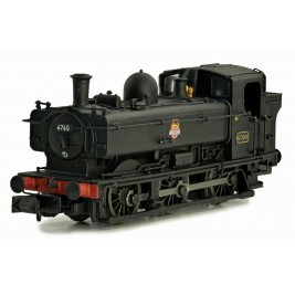 2S-007-017  N Gauge Pannier 6760 BR Black Early Crest Later cab