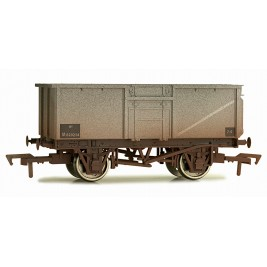 4F-030-012 OO Gauge 16 Ton Steel Mineral Wagon  BR Grey  M620214 Weathered