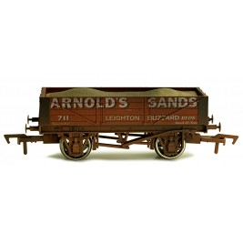 4F-040-020 OO Gauge 4 Plank Wagon Arnold Sands 711 Weathered