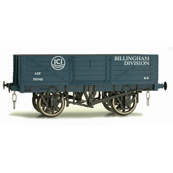 7F-051-023 O Gauge 5 Plank Open Wagon ICI Lime 75742