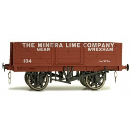 7F-051-024 O Gauge 5 Plank Open Wagon Mineral Lime Company 134