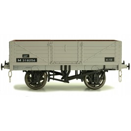 7F-051-025W O Gauge 5 Plank Open Wagon BR M318261 Weathered