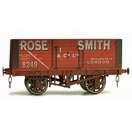 7F-080-016W O Gauge 8 Plank Open Wagon Rose Smith 8249 Weathered