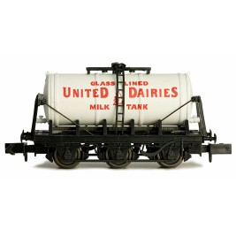 2F-031-013 N Gauge 6 Wheel Milk Tanker   United Dairies