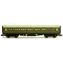 2P-012-154  N Gauge Maunsell Coach Composite Maunsell Lined Green 5140