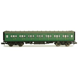 2P-012-303  N Gauge Maunsell Coach First Class BR Southern Region Green  7208
