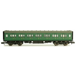 2P-012-304  N Gauge Maunsell Coach First Class BR Southern Region Green  7367