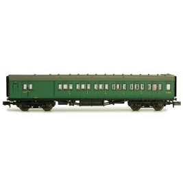 2P-012-353  N Gauge Maunsell Coach Brake Third BR Southern Region Green  4050
