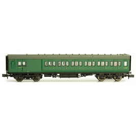 2P-012-354  N Gauge Maunsell Coach Brake Third BR Southern Region Green  4482
