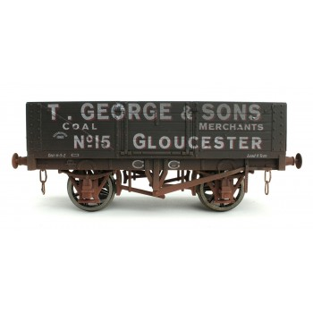 7F-051-021W O Gauge 5 Plank T George & Son 15  Weathered