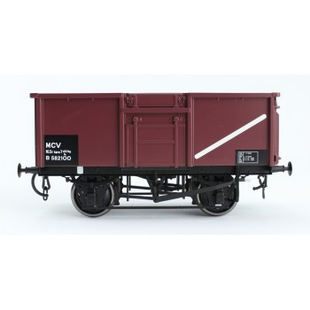 303-6 O Gauge 16T Steel Mineral Wagon BR Welded Body Vac pipe fitted