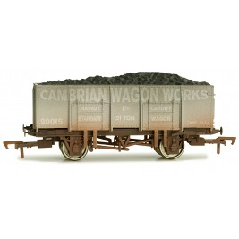 4F-038-109 OO Gauge 20 Ton Steel Cambrian Wagon Works 90015 Weathered