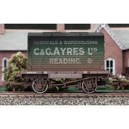 4F-037-105 OO Gauge Conflat & Container C & G Ayres Weathered