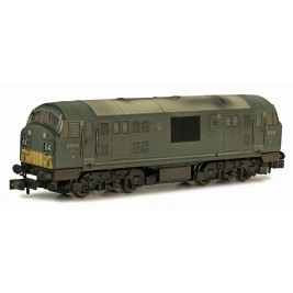 2D-012-013 N Gauge CLASS  22  BR GREEN SYP Font A D6315 Weathered